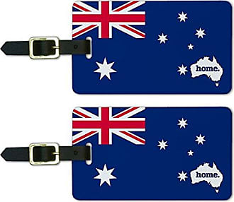 Graphics & More Graphics & More Australia Home Country Luggage Suitcase Id Tags-Flag, White