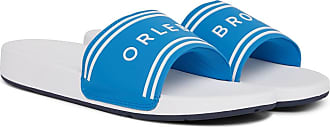 Orlebar Brown Haddon Logo-embossed Canvas And Rubber Slides - White