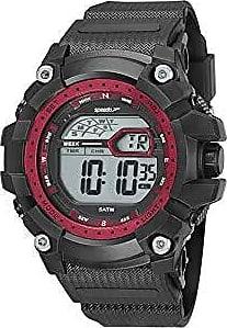 Speedo Relógio digital Speedo masculino Big Case prova dágua Preto/vermelho