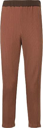 Yoshiokubo micro pleated trousers - Brown