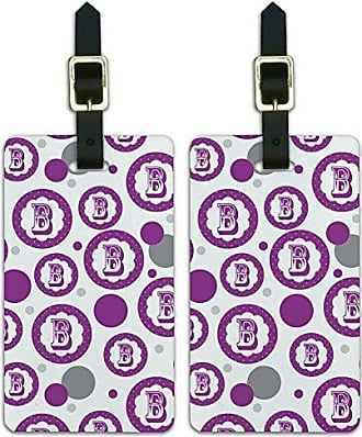 Graphics & More Graphics & More Flower Purple-Letter B Initial, White