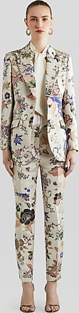 Etro Floral Jacquard Tailored Trousers, Woman, Beige, Size 38