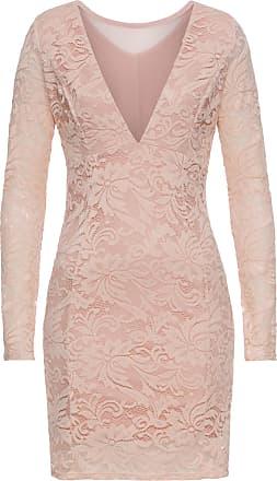 BODYFLIRT boutique Dam Festklänning med spets i rosa lång ärm - BODYFLIRT  boutique 812564aebf39f