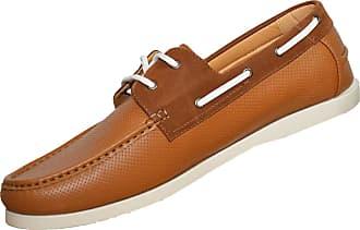 Duke London Mens Duke Big Size Synthetic Leather Lace Classic Deck Boat Shoes UK 10 11 12 13 Tan