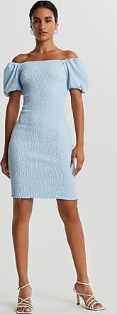 Topshop Petite – Ljusblå tea klänning i minimodell med