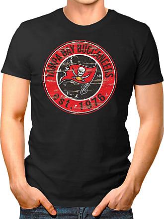 OM3 Tampa-Bay-Badge - T-Shirt | Mens | American Football Shirt | XXL, Black