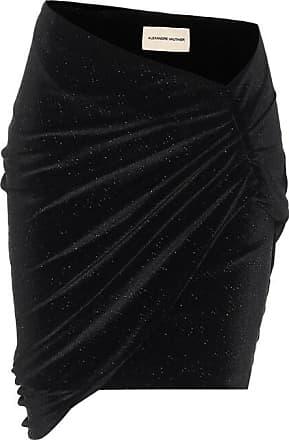Alexandre Vauthier Asymmetric velvet bodycon miniskirt