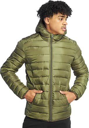 Only & Sons Liner Quilt Puffer Hooded Padded Jacket Coat Olive Night