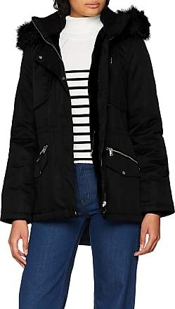 Vero Moda Womens Vmvictoria Parka Boos, Black (Black Detail: Silvertrim/Black Fur+Teddy), 10 (Size: Small)