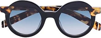 Kaleos Óculos de sol redondo preto e marrom