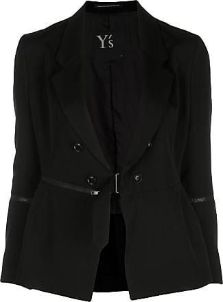 Yohji Yamamoto zip detail tailored blazer - Black