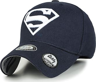 Ililily Superman Baseball Cap Superman Shield Embroidery Fitted Trucker Hat, Navy, Large