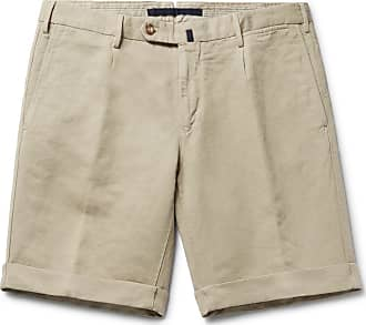 Incotex Slim-fit Linen And Cotton-blend Shorts - Sand