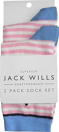 JACK WILLS Womens Elbridge Stripe Navy Blue Socks /> One Size UK 4-7 EUR 37-41