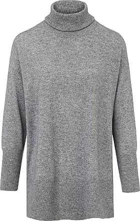 include Roll-neck jumper in wool and cashmere include grey