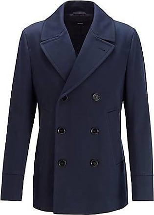 BOSS Slim-Fit Mantel aus wasserabweisender Baumwolle
