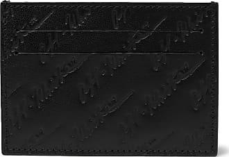 Off-white Logo-debossed Leather Cardholder - Black