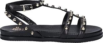 Truman's Sandalen 9137 Hirschleder Nieten schwarz