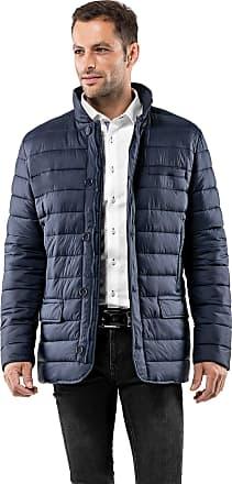 Vincenzo Boretti Mens Jacket Blazer Design Slim-fit Fitted Quilted Soft Long-Sleeve Lightweight Warm Smart Elegant Men Designer Padded Jacket Dark Blue M