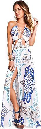 Empress Brasil Vestido Empress Brasil Majorelle Estampa Azulejo Azul