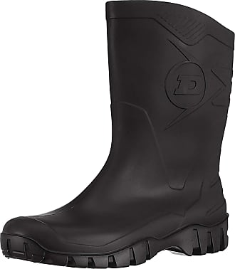 Dunlop DEE Half Length Black Wellingtons Size 11 UK