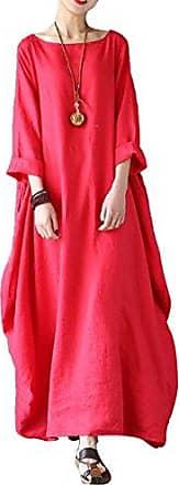 Damen Mittelalter Kleid Kaftan Langarm Kleidung Boho Kleider Lange Gr/ö/ße Maxikleid