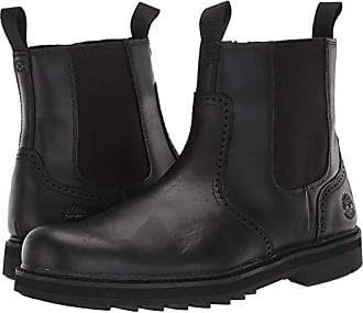 black leather timberland boots mens