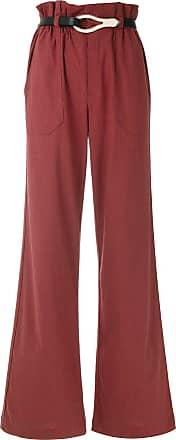 Framed Calça pantalona Linen - Vermelho