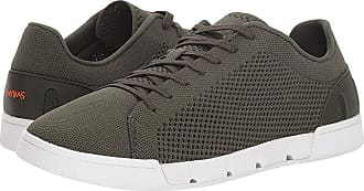 2b02bdcb5058 Swims Breeze Tennis Knit (Olive White) Mens Shoes