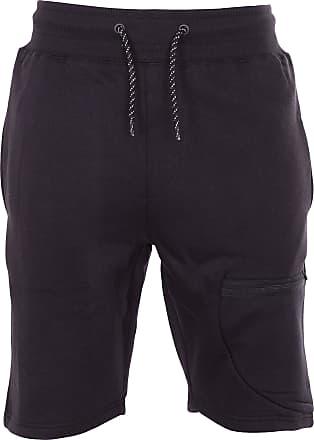 Noroze Mens Thigh Pocket Jersey Shorts (S, Black)