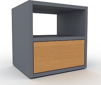MYCS Table de chevet - Anthracite, contemporaine, table de nuit, avec tiroir Chêne - 41 x 41 x 35 cm, modulable