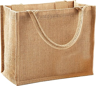 Westford Mill Jute Mini Gift Bag (6 Litres) (One Size) (Natural)