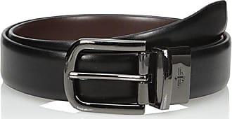 Dockers Mens 1 1/4 Inch Feathered-Edge Reversible Belt with Gunmetal Buckle, Black/Brown, 36