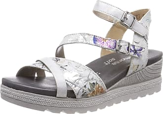 Remonte Womens D6356 Sling Back Sandals, Multicolour (Offwhite-Metallic/Ice 90), 6.5 UK