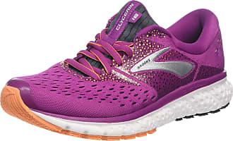 Brooks Womens Glycerin 16 Running Shoes, Black (Wild Aster/Fig/Orange 586), 5.5 UK