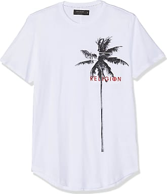 Religion Mens Pocket Palm Tee T-Shirt, White (White 014), X-Large (Manufacturer Size:XL)