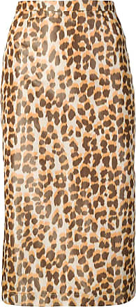 Rochas leopard-print pencil skirt - Neutro