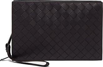 Bottega Veneta Double-zip Intrecciato-leather Pouch - Mens - Black