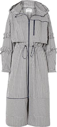 3.1 Phillip Lim Ruffled Gingham Canvas Parka - Black