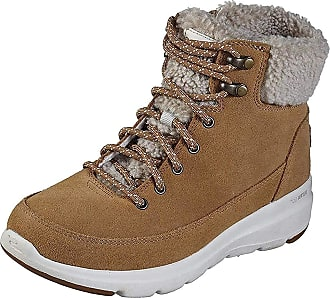 Skechers Womens Glacial Ultra - Woodlands Fashionable Boots, chestbut Blond, 7 UK