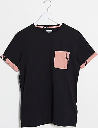 Timberland printed pocket t-shirt-Black