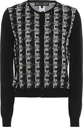 Oscar De La Renta Sequinned wool cardigan