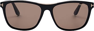 Tom Ford Eyewear Óculos de Sol Retangular Preto - Mulher - 58 US