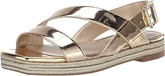 2571771ddba8 Katy Perry Womens The Lenore Flat Sandal Champagne 7.5 Medium US