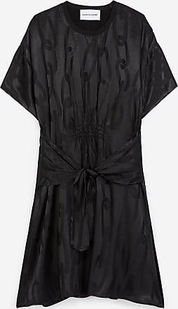 The Kooples Black dress with tone-on-tone chain motif - WOMEN