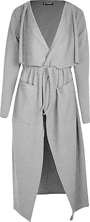 Be Jealous Womens Wrap Over Pocket Duster Trench Coat Ladies Tie Belted Midi Long Cardigan