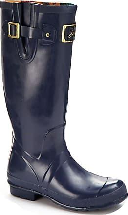Joules Posh Ladies Waterproof Rain Snow Wellington Boots Navy Size 4