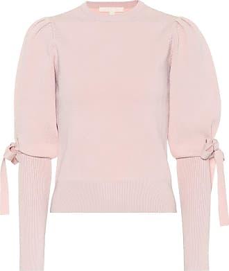 Jonathan Simkhai Jacquard knit puff-sleeve sweater