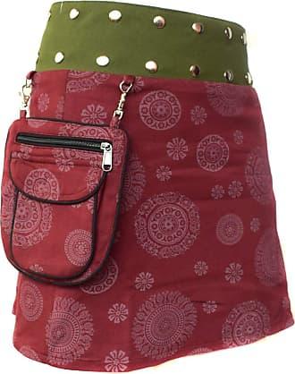 Gheri Floral Short Popper Removable Pocket Reversible Cotton Skirt H
