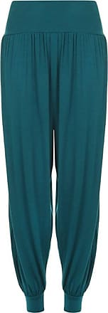 ZEE FASHION New Womens Harem Trousers Ali Baba Long Ladies Girls Pants Baggy Hareem Leggings Plus Size 8-26 Teal